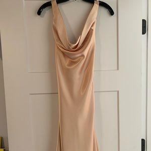 Gold silk dress